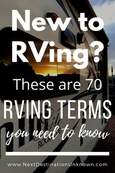 Are you new to RVing and lost with all the RV lingo? Or are you going to start RV life and want a head-start on all the things involved with RVing? Click here for a comprehensive list of 70 helpful RVing words and phrases you should know before you start RVing to help you navigate RV life. Includes a free printable RV Travel Planner! #RVlife #RVliving #RVing #RVtips #RVingtips #RVtipsforbeginners #RVingforbeginners #newtoRVingtips Rv Travel, Travel Planner, Travel Tips, Vintage Campers, Vintage Trailers, Rv Vehicle, Camper Trailers, Travel Trailers, Camping Essentials