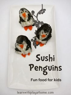 Learn with Play at home: Sushi Penguin. Fun food for kids.