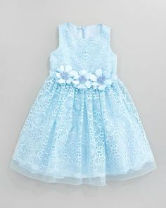 David Charles Lace Overlay Flower Dress, Aqua - Neiman Marcus Source by narcojloleptic Dresses Baby Girl Frocks, Frocks For Girls, Little Girl Dresses, Girls Dresses, Blue Party Dress, Girls Party Dress, Toddler Dress, Baby Dress, Flower Dresses