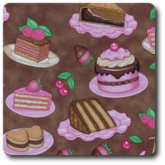 Delicious Desserts Hand Painted Dishes, Dan Morris, Novelty Fabric, Sugar Rush, Wine Recipes, Delicious Desserts, Cookies, Chocolate Cakes, Food