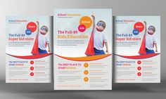 Check out Kids School Education Flyer Template by Business Templates on Creative Market
