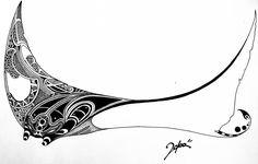 Manta Ray by Mrblcvk on DeviantArt Small Shark Tattoo, Tribal Shark Tattoos, Ocean Tattoos, Body Art Tattoos, Sleeve Tattoos, Manta Ray Tattoos, Stingray Tattoo, Lotus Tattoo, Animal Drawings