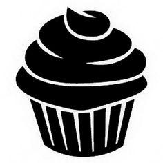 Small Cupcake Stencil Stencil Pinterest Small