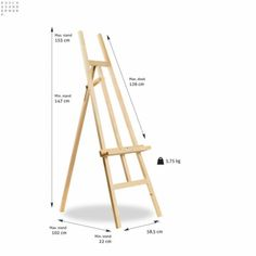 #40PN Vuren eenvoudige driepoot schildersezel. Online verkopen wij deze alleen per doos van 4 stuks! Prijs is PER EZEL Kids Art Easel, Diy Easel, Wooden Easel, Woodworking Projects That Sell, Woodworking Furniture, Woodworking Plans, Wood Furniture Living Room, Diy Furniture, Hardwood Lumber