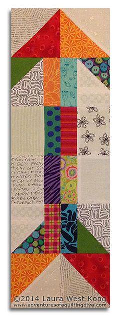Scrappy Arrow quilt block | adventures of a quilting diva #quiltspiration365