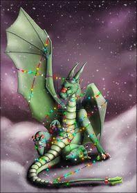 ShapeShifter Seduction: Let There Be Dragons At Christmas Dragon 2, Fantasy Dragon, Baby Dragon, Fantasy Art, Fantasy Wizard, Magical Creatures, Fantasy Creatures, Dragon Occidental, Christmas Dragon