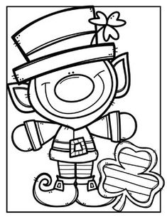 Patrick's Day Coloring Pages (+ writing papers) {Creative Clips Clipart}