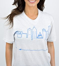 Introducing our classic skyline design, with a twist! Support your favorite team every game day in this super soft tee!  #OutlineTheSky #RepYourCity #CoverTheCountry #DetroitSkyline