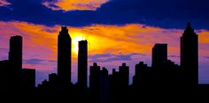 Atlanta Skyline ~ one of our sprawling city's many skylines