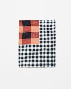 PATCHWORK CHECK PRINT SCARF