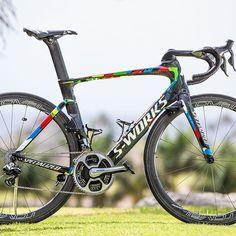 64369c36ded Peter Sagan's new custom Specialized Venge ViAS. Photo: @brakethrough_media  Ciclismo, Velo,