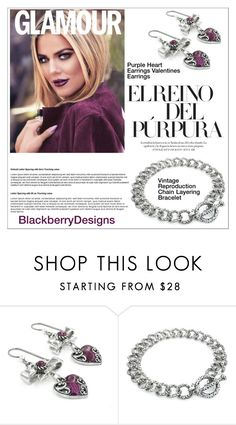 """""""Purple (Blackberry Designs on Etsy #30)"""" by shambala-379 ❤ liked on Polyvore featuring vintage"""