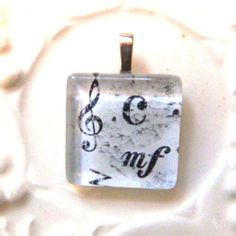 Music Notes Pendant  ready to ship by glitteringdreams on Etsy,