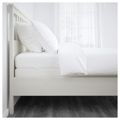 Sustainable beauty from sustainably-sourced solid wood, a durable and renewable material that maintains its genuine character with each passing year. Combines with the other furniture in the HEMNES series. Ikea Hemnes Bed, Full Bed Frame, Ikea Family, Bed Slats, White Stain, Bed Base, Under Bed Storage, Adjustable Beds, Furniture For You