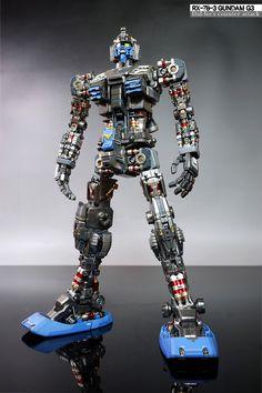 GUNDAM GUY: PG 1/60 RX-78-3 Gundam G-3 - Customized Build Gunpla Custom, Custom Gundam, Robot Concept Art, Armor Concept, Metal Robot, Samurai, Gundam Mobile Suit, Blender Tutorial, Gundam Art