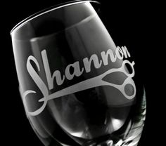 Personalized Hairdresser or Hair Stylist Wine Glass on Etsy, $19.00