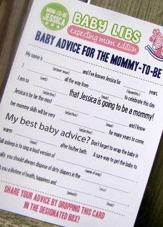 Bébé fou Libs idéal pour bébé douches PDF fichier par camispaperie