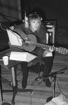 """Stevie recording a demo for """"Leather And Lace"""""""