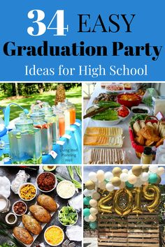 Looking for easy graduation party ideas that you can DIY for your high school graduate? This post shows you 34 brilliant graduation party food and decor ideas that your graduate will love for their graduation celebration. Graduation Party Desserts, Outdoor Graduation Parties, Graduation Party Centerpieces, Graduation Party Planning, Graduation Celebration, Graduation Party Decor, Grad Parties, Graduation Ideas, Graduation Gifts