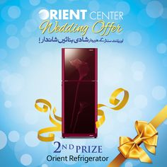 #Orient is making your #WeddingSeason even more #Delight ! Get you #WeddingShopping done today and be the #LuckyWinner of #OrientMegaOffer of winning #OrientRefrigerator  #OnlyOrient cares about your #SpecialNeeds   Now Hurry
