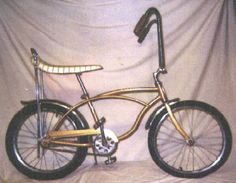 1966 Schwinn Sting-Ray Deluxe. Remember peddling around my sisters on the handle bars. What fun!