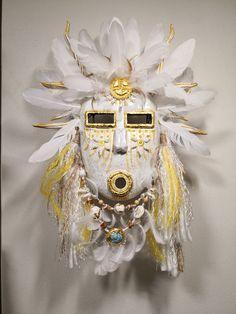 Southwest Art, Gourd Art, Tribal Art, Gourds, Dream Catcher, Brooch, Halloween, Handmade, Masks