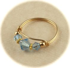 March Aquamarine Birthstone Ring Aquamarine by AdoraBellaJewelry