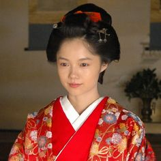 "Aoi Miyazaki 宮崎あおい NHK 2008 Taiga Drama Atsuhime ""篤姫"" Japanese Drama, Japanese Kimono, Japanese Culture, Japanese Art, Japanese Outfits, Married Woman, Movie Costumes, Miyazaki, Yukata"
