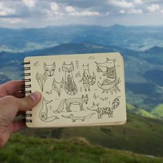 Drawing Doodle Easy Have you ever seen a fox in the wild? Day 59 of Doodle Sketch, Doodle Drawings, Cartoon Drawings, Animal Drawings, Easy Drawings, Sketchbook Challenge, Drawing Challenge, Animal Doodles, Doodle Art Journals