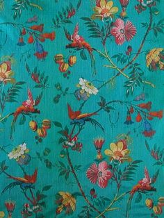 Scalamandre Fabric - Paradiso - Turquoise - $252.25 Per Yard #interiordecor #interiordesign #homedecor #designideas
