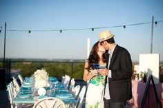 Fun engagement parties — a rooftop party #engagementparty #engaged #engagement