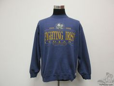 Vtg 90s Trench Notre Dame Fighting Irish Crewneck Sweatshirt sz L ND University #Trench #NotreDameFightingIrish #tcpkickz