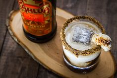 The S'mores Crunch Cocktail featuring Kahlúa Pumpkin Spice. Recipe and photo by Irvin Lin of Eat the Love.Ingredients 1 ounce chocolate (whatever you like to eat) 1 graham cracker 1 1/2 ounces Kahlúa Pumpkin Spice 1 1/2 ounces whiskey 1 1/2 ounces heavy whipping cream 1 marshmallow ice