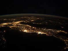Italy from space.