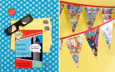invite ideas and i love the comic book page banner {www.love-the-day.com}
