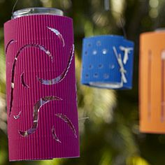Easy project: Make tiki lanterns