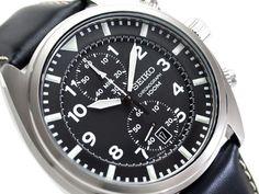 SEIKO Chronograph SNN231P2 Orologio Crono Uomo Pelle Men s Watch Neo Sport