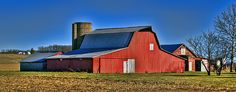 This bright red barn stands out in the country side. It's located in southeastern Champaign County, Ohio.