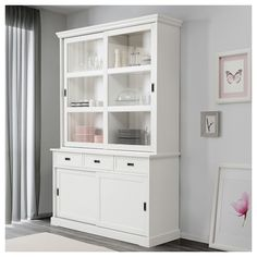 LARSFRID Buffetkast - wit - IKEA Dinning Room Cabinet, Ikea Dining Room, Buffet Ikea, Billy Ikea, Large Drawers, Adjustable Shelving, China Cabinet, Tall Cabinet Storage, Bookcase