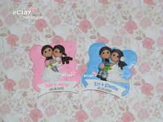 wedding souvenirs, ref magnets, polymer clay, eclay