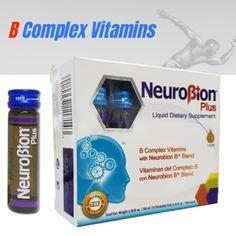 NEUROBION PLUS B COMPLEX VITAMINS 10 Drinkable Vials VITAMINAS COMPLEJO B  Price: 19.89 & FREE Shipping  #hashtag4 Vitamin B Complex, Free Shipping, Vitamins