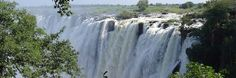 The Ngonye Falls or Sioma Falls are a waterfall on the Zambezi river in Western Zambia, near the town of Sioma and a few hundred kilometers upstream from the Victoria Falls. Description from snipview.com. I searched for this on bing.com/images