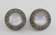 Vintage Signed FN Co Fishel Nessler Shoe Button Cover Rhinestone Chalcedony Deco | eBay