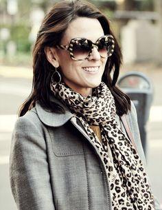Big glasses and animal print scarf. #streetstyle #savannah #georgia #winterwear