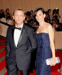 Daniel Craig with his 1st wife Fiona Loudon with whom he has a daughter.