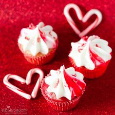 Peppermint Candy Cupcakes