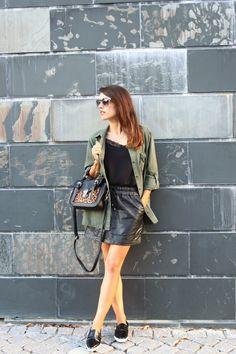 I love Fita Métrica: Khaki, leather & Black