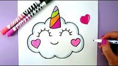 Cute and easy drawings how to draw a kawaii unicorn cloud drawing Kawaii Drawings, Doodle Drawings, Cartoon Drawings, Cute Drawings, Animal Drawings, Doodle Art, Drawing Animals, Chihuahua Drawing, Panda Drawing