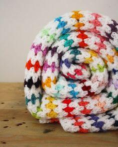 Free crochet pattern: diamond stitch blanket