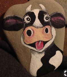Cow Painted rock